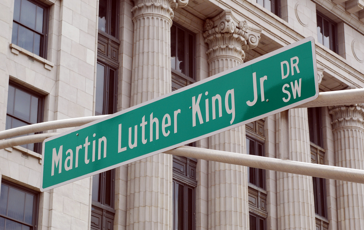 martin luther king jr street sign