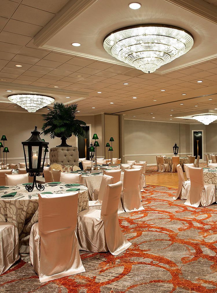 ball room decorated for event