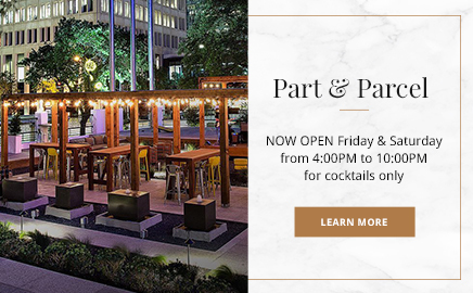 part & parcel open friday and saturday from 4-10pm for cocktail service only