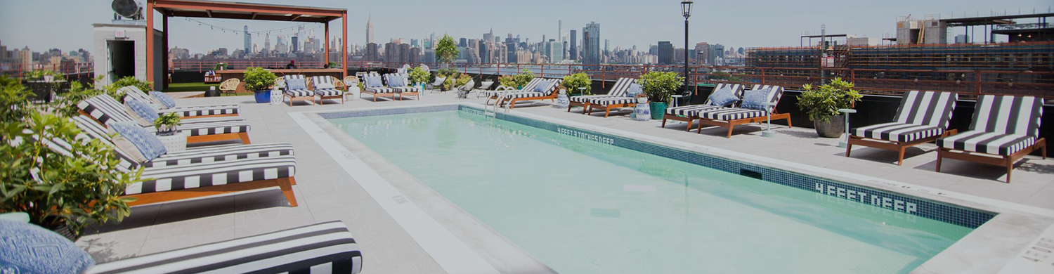 Williamsburg Hotel Header Pool top