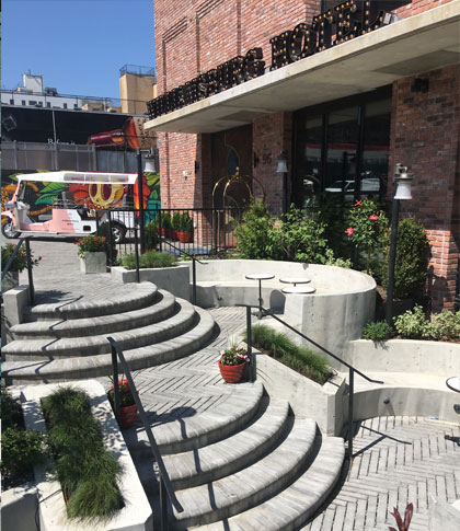 the williamsburg hotel event spaces patio