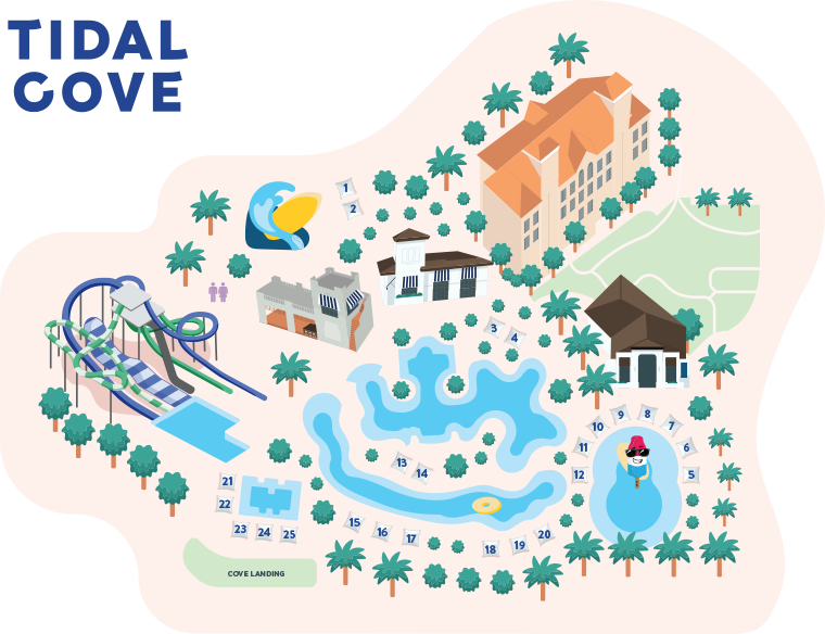 miami tidal cove cabana map