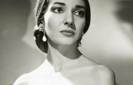 Black & White Photo of Maria Callas