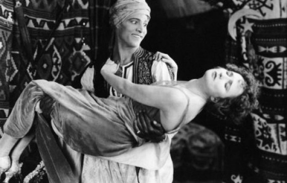 Rudolph Valentino and Agnes Ayres in the 1921 Film The Sheik