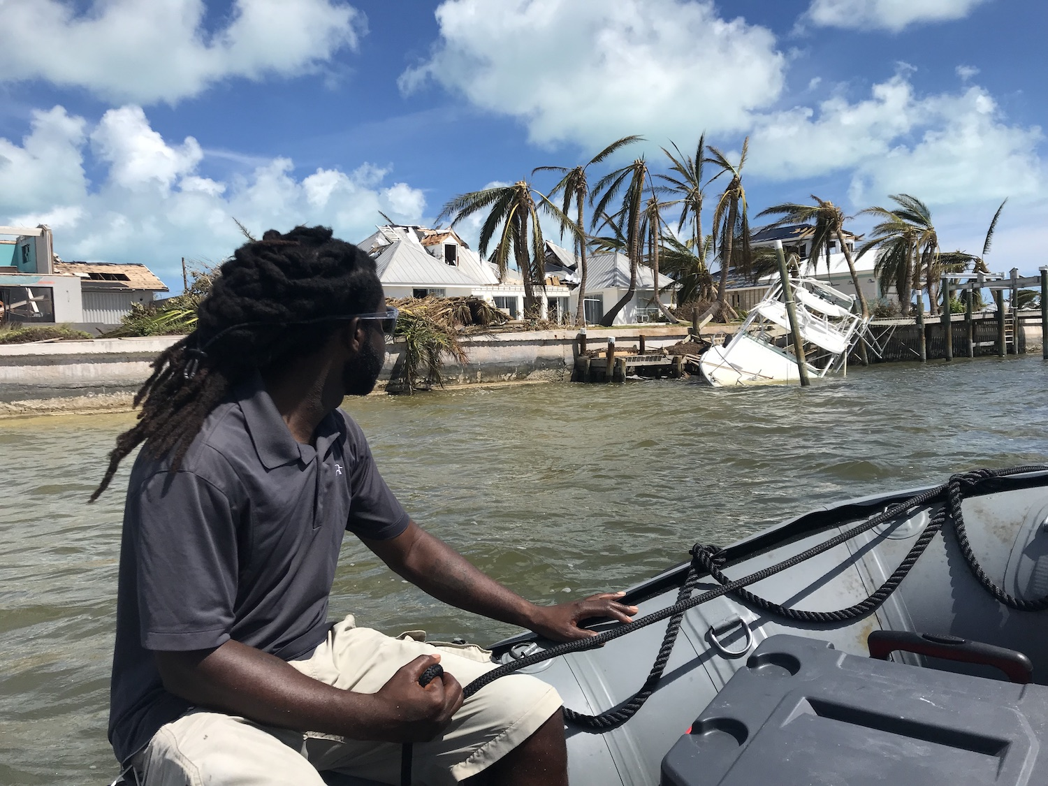 bahamas man on boat dorian relief efforts 1500px
