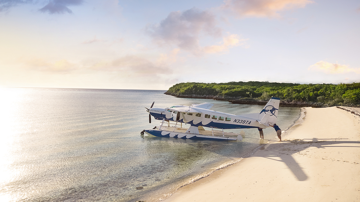 tropic seaplane shore