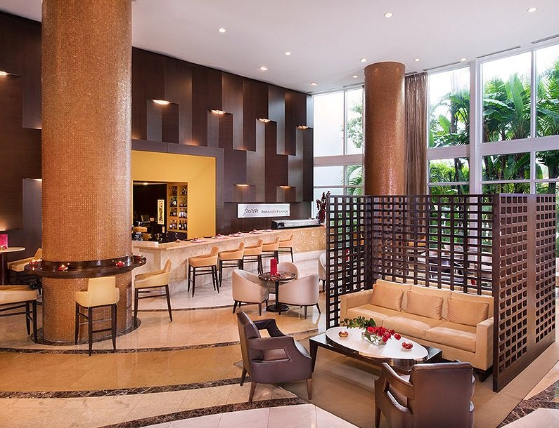 trump international fusion lounge dining room by the lobby