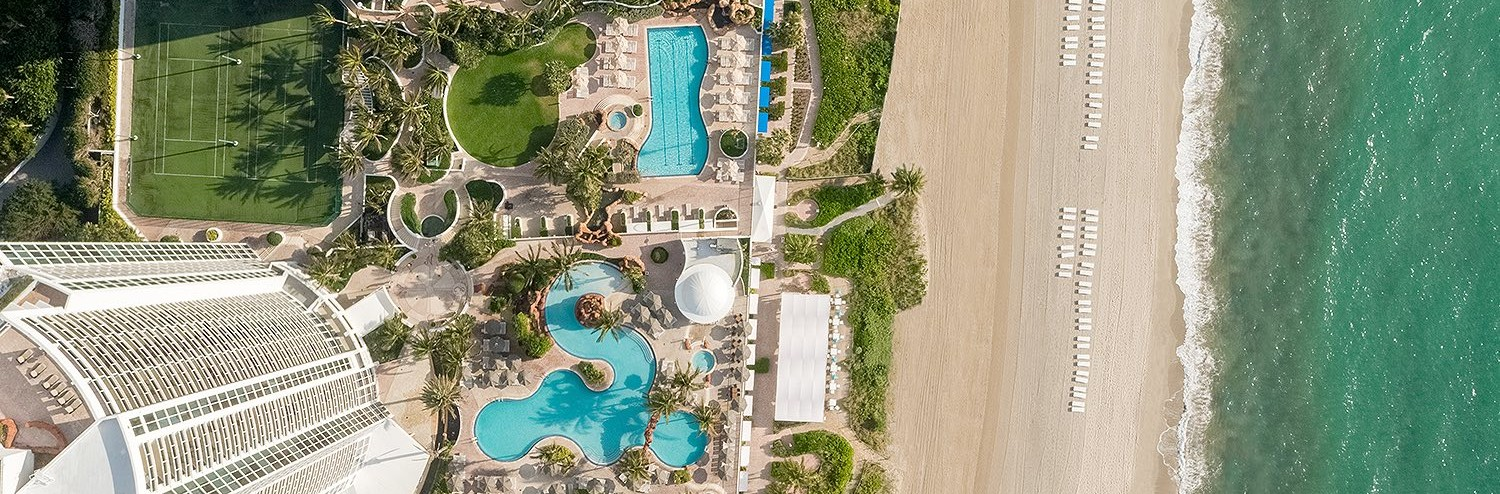 aerial view of the Trump international beach resort