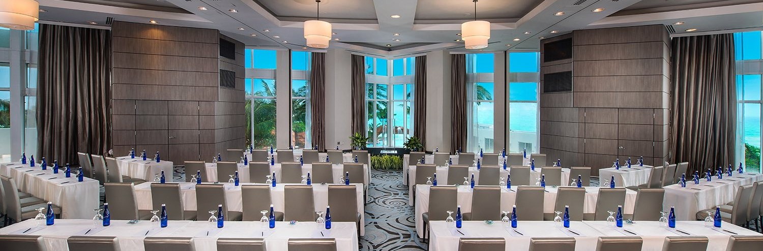 trump international ocean view ballroom set up classroom style