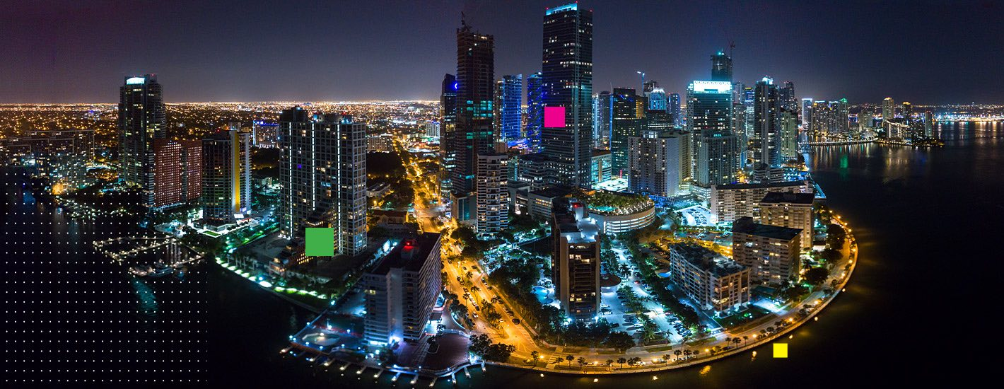 Aerial of downtown Miami