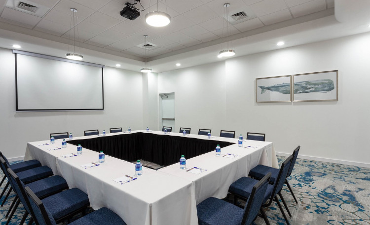 Conferences room set up in a square