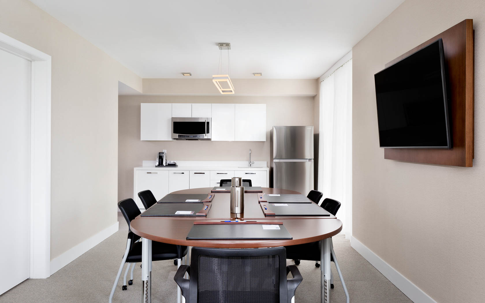 conference table with kitchenette