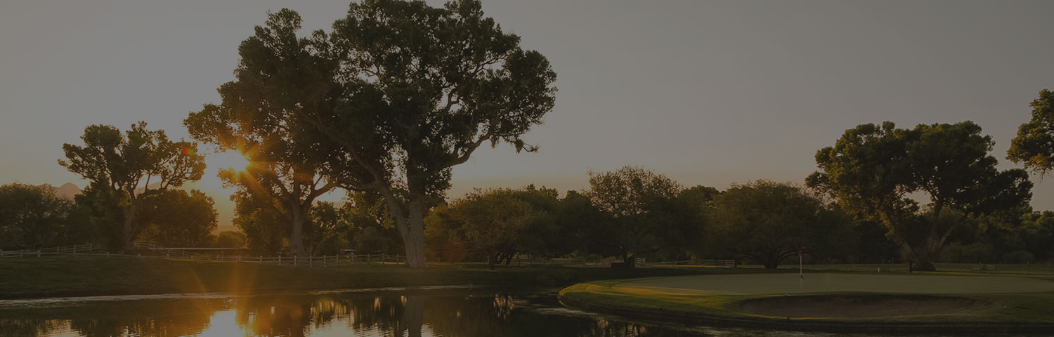 golf course with trees