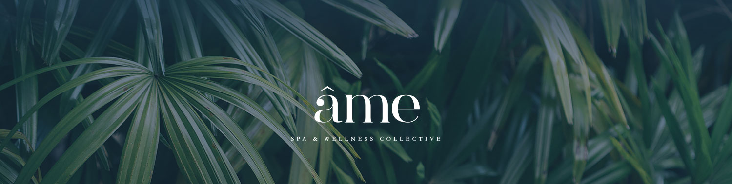 Ame spa logo on leaves