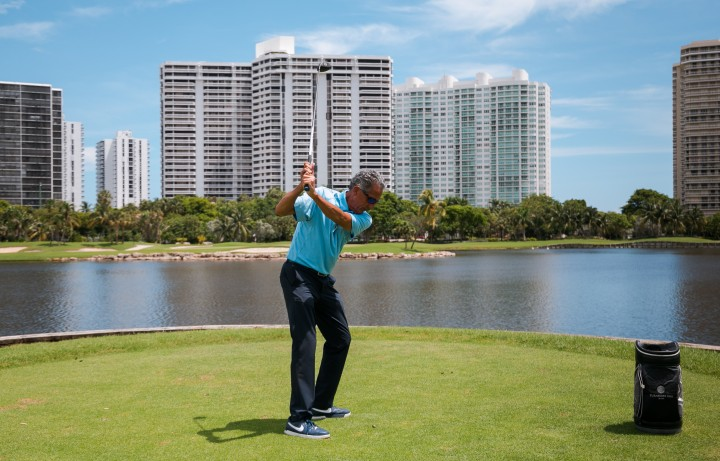 Man golfing at Turnberry Isle Country Club 1