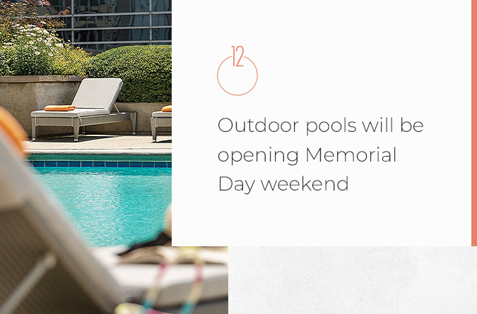 Outdoor pools will be opening Memorial Day weekend
