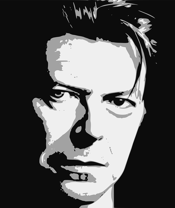 david bowie black and white
