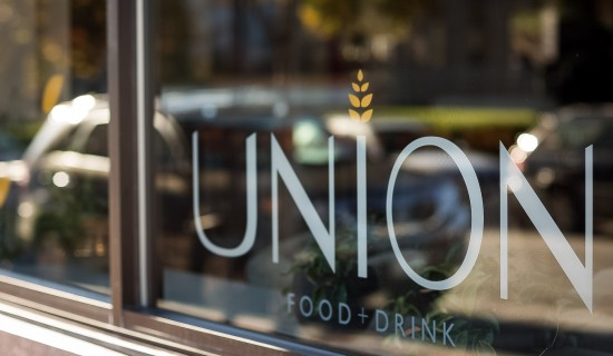 union sign on the restaurant window