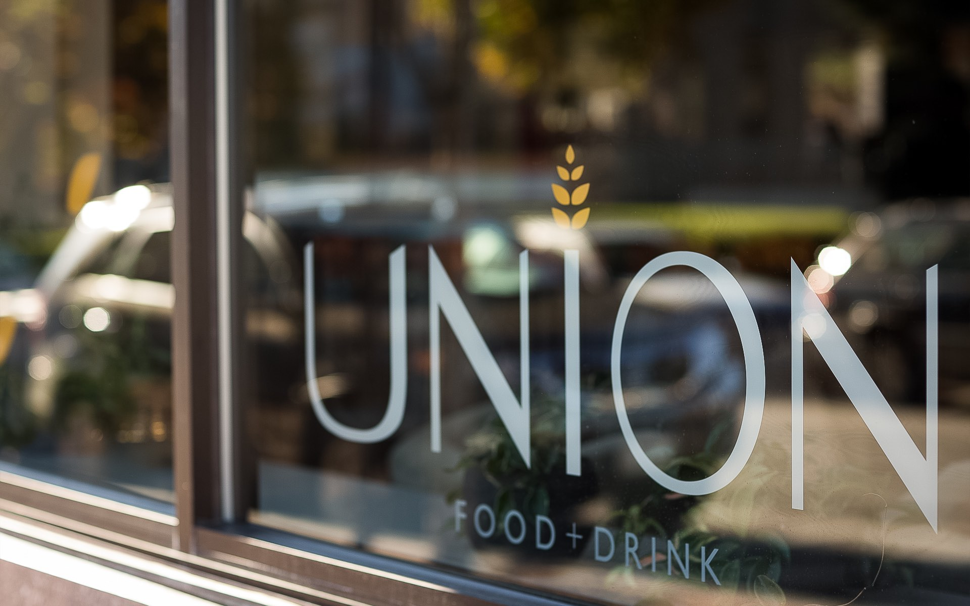 union sign on restaurant window