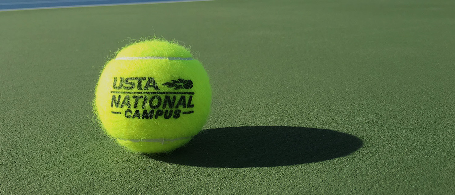 Close up of USTA tennis ball