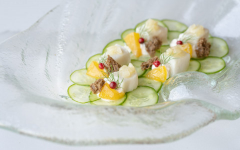 fish and cucumber salad
