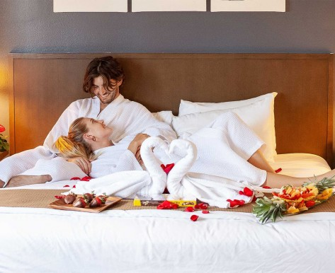couple on a romantic bed