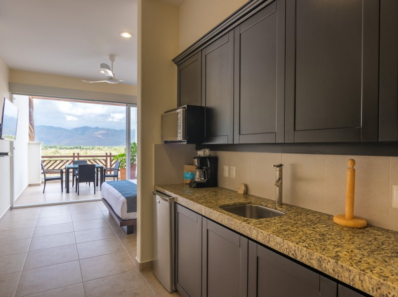 One bedroom mountain view studio kitchenette