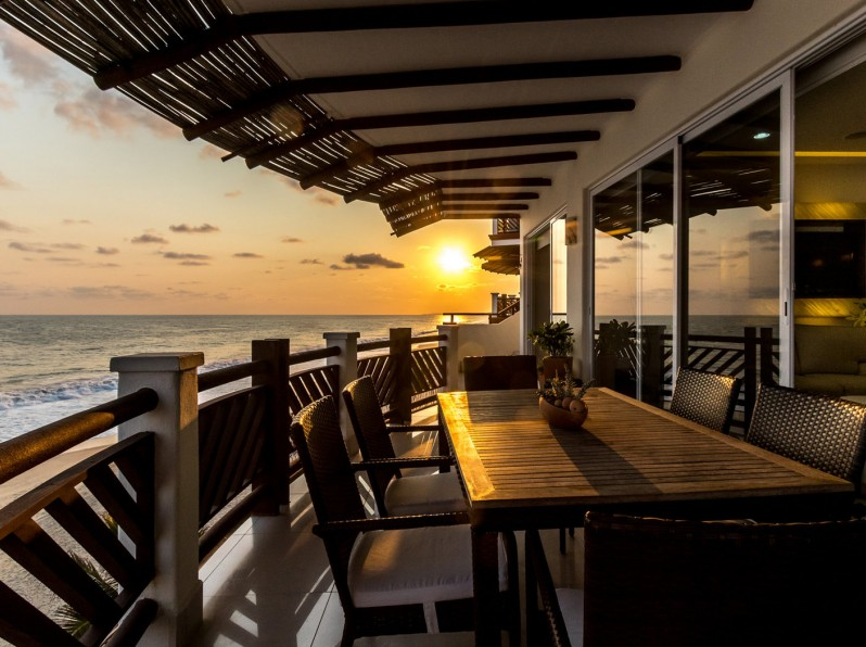 Four bedroom penthouse palapa at sunset