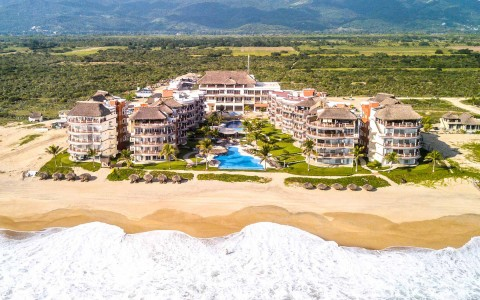 vivo vacations aerial photo in puerto escondido