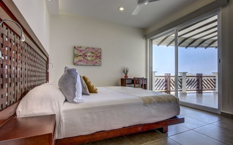 Room detail with ocean view
