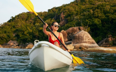 woman boating in puerto escondido