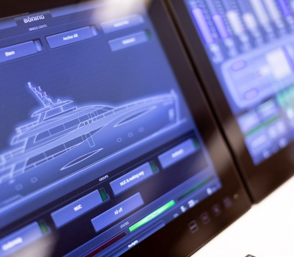 close up of a boat's design on a desktop monitor