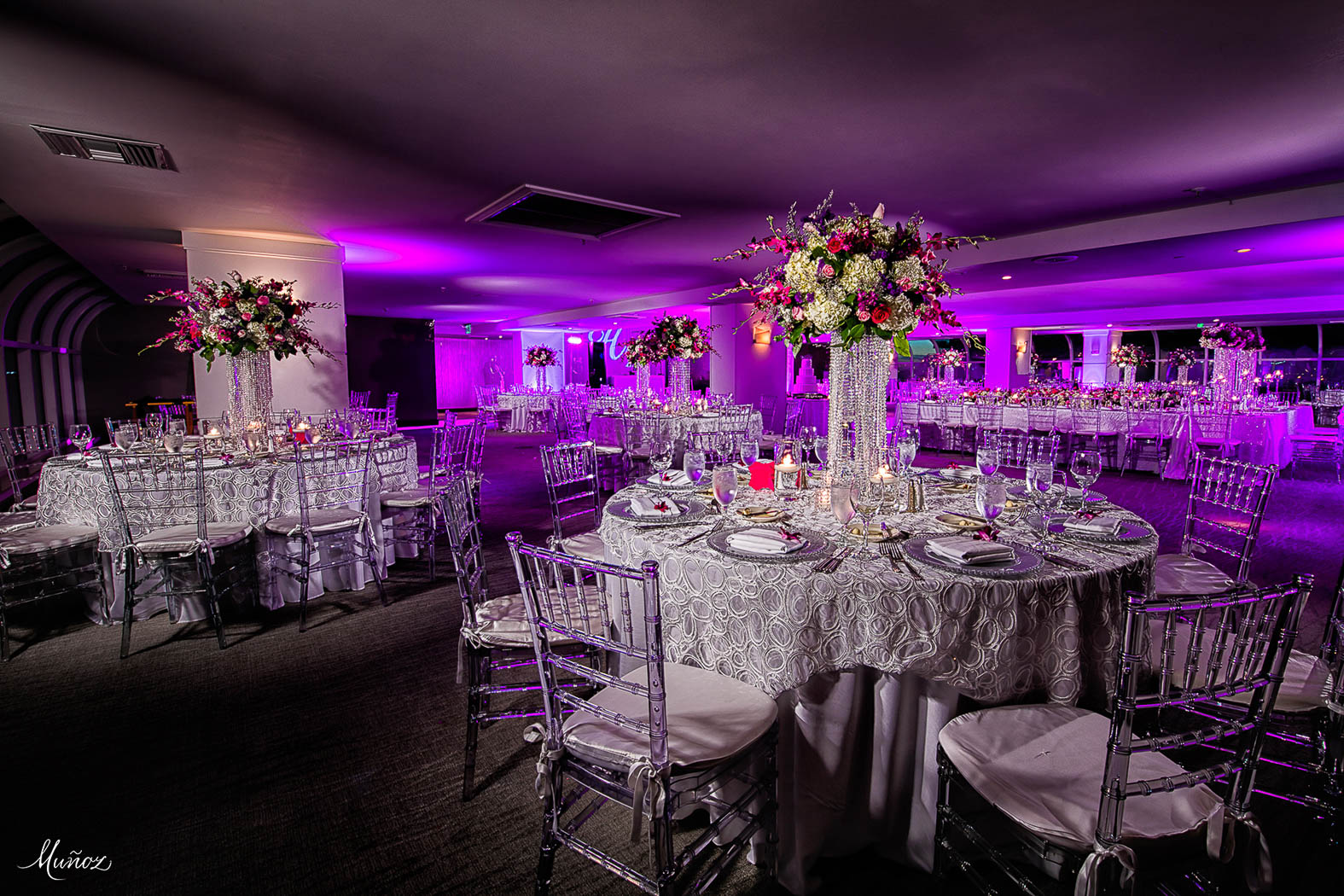 Indoor waterfront wedding in the Atlantic Ballroom