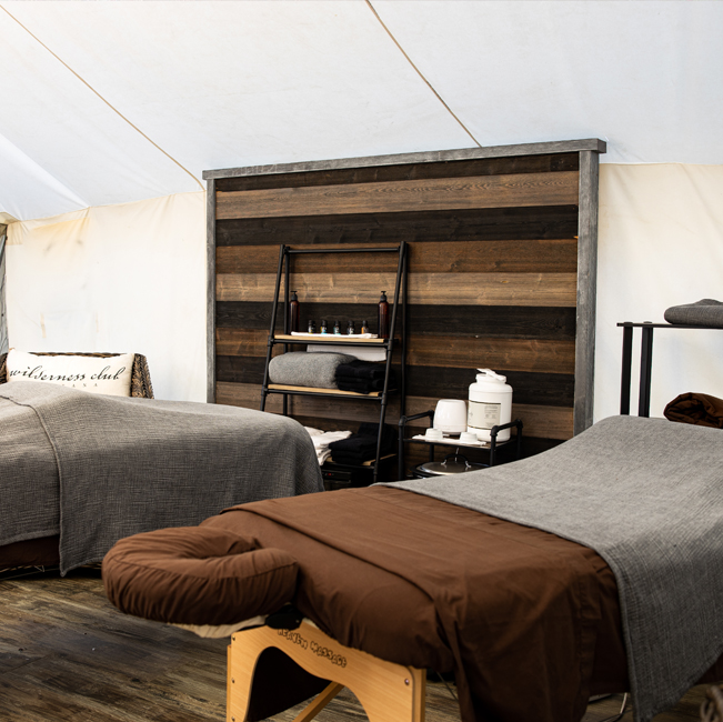 Wilderness Club massage tables
