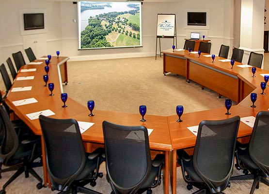 Conference Room with tables set in u formation