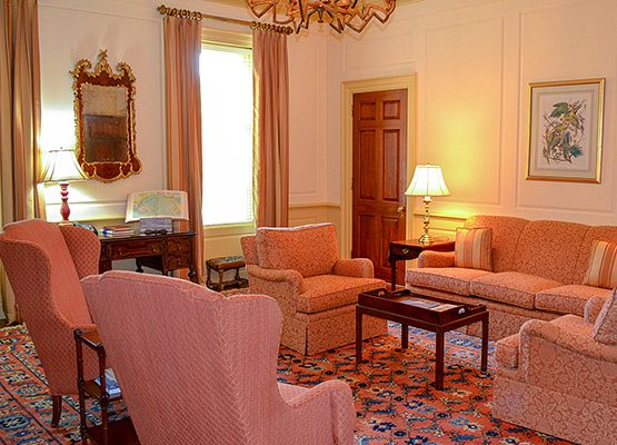 Drawing Room features chairs and couches