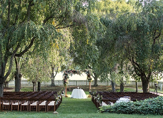 English Gardens wedding ceremony