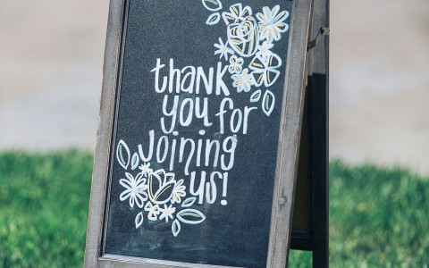 Wedding Greeting Sign