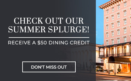 get a $50 dining credit with our Summer Splurge!