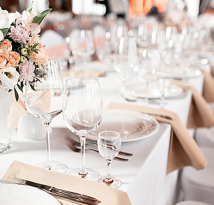 a table decorated for a wedding