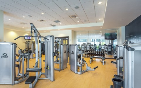 a good functioning gym with various strength machines