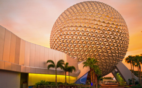 Spaceship Earth ride at Epcot Center park