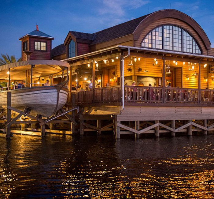 exterior of restaurant at Disney Springs