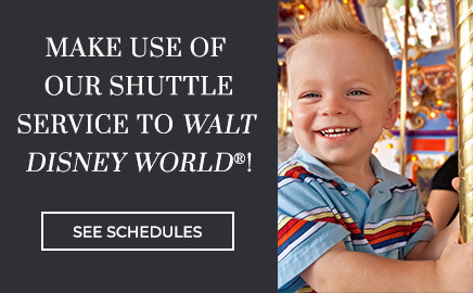 learn more about our shuttles to Walt Disney World Parks!