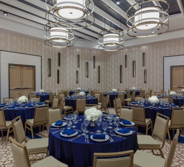 theater style seating arrangement in ballroom