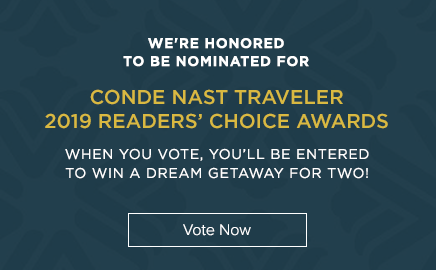 Vote Now for 2019 Condé Nast Traveler Readers' Choice Awards