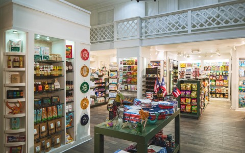 inside the general goods store at the hotel