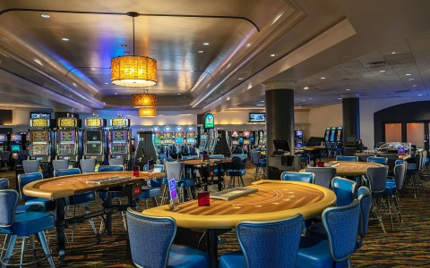 tables inside of the casino