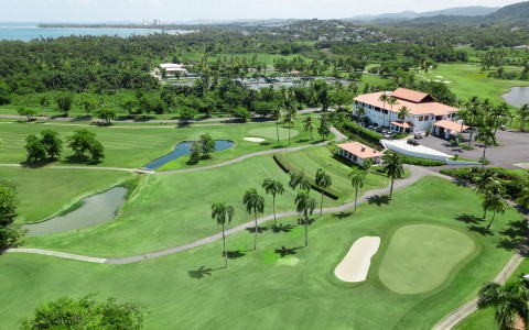 over view of the golf course