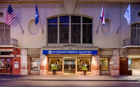 wyndham new orleans french quarter exterior entrance